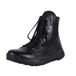 Discount special forces tactical boots Mens Women Ultralight Combat Boots Outdoor Tactical Mountain Hiking Boots Special Forces Army Trekking 12020