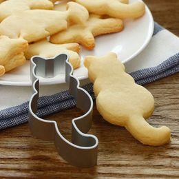 $enCountryForm.capitalKeyWord Australia - Cat Shaped Aluminium Mold Sugarcraft Cake Cookies Pastry Baking Cutter Mould Set