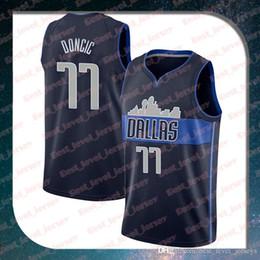 fa6d0a841d2d stitched 77 Luka jerseys Doncic  77 Kristaps Dirk 41 Nowitzki jerseys  6  Porzingis jersey Dallas jersey Mavericks fast shipping