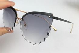 Diamond Uv Australia - New fashion women sunglasses 195 Cutting lens charming cat eye frameless diamond avant-garde design style top quality uv protection