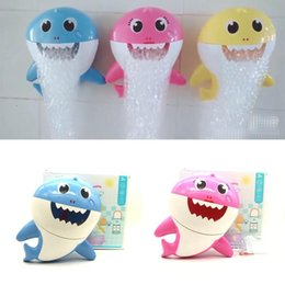 Discount kids bathtub toys - Baby Shark Bath Bubble Maker With Music Kids Bath Toy Pool Swimming Bathtub Soap Machine Shower Companion MMA2233