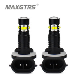 Fog lamp projector online shopping - 2x H1 H3 H27 LED W CREE Chip Car Daytime Running Light Driving Fog DRL Light Projector Lens Bulb lamp White Red Yellow