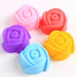 rose cookies mould 2019 - Hot Sale Creative Rose Flower Cake Mold Dessert Biscuit Silicone Baking Mould Practical Kitchen Tool 0 45sk Ww cheap ros