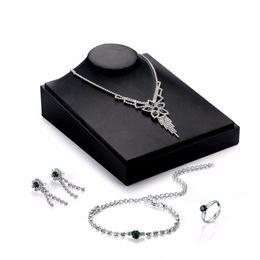 $enCountryForm.capitalKeyWord Australia - Transmit love Silve colour Dress Bridal Jewelry sets for woman crystal Necklace Earrings Ring Bracelet Party Wedding Jewelry set