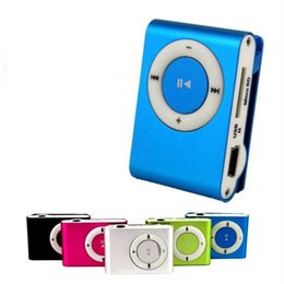 tf mp3 player green Australia - 10Pcs BOX Colorful Mp3 Player Mini Mp3 Mususic Player Micro TF Card Slot USB Sport USB Port With Earphone Headphone