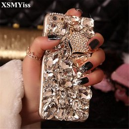 fox bling iphone case UK - wholesale Luxury Bling Crystal Diamond Fox Soft Back Phone Case Cover For iPhone X 7 8 Plus 6 6s Plus 5 5S SE 5C 4S