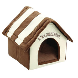 small house puppies Australia - Portable Folding Pet Houses Dog Beds for Small Dogs Washable Puppy Dog Kennel Bed Plush Cat House for Animal Cats Pets Supplies