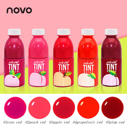 $enCountryForm.capitalKeyWord Australia - Hot Brand Juice Box Liquid Lip Gloss Makeup 5 Colors Waterproof Fruit Lip Stain LipglossTint Non-Stick Liquid Lipstick Cosmetics