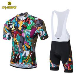 Custom Designed Clothing Australia - YKYWBIKE 2019 Cycling Bib Sets Men Breathable Anti-sweat Summer Racing Bicycle Quick Dry Multi-colored Clothing Sportswear Custom Design