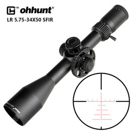 scope mil dot reticle Canada - LR 5.75-34x50 SFIR Hunting Scope Mil Dot Glass Etched Reticle Red Illumination Side Parallax Turret Lock Reset Riflescope