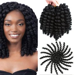 Pack of 5 Jamaican Bounce Crochet Hair Wand Curl Synthetic Hair Crochet Braids 8 Inch 20 Strands Pack Afro Kinky Braiding Hair on Sale