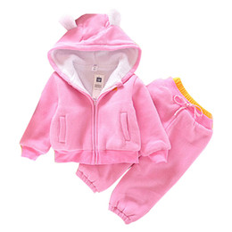$enCountryForm.capitalKeyWord Australia - autumn Winter Girls Boys Clothing Sets Bear Jackets+Trousers Sports Suits for girls Thick Warm Tracksuit Kids Clothing