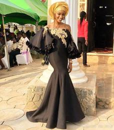 $enCountryForm.capitalKeyWord Australia - Ankara Aso Ebi 2019 Black Sexy Evening Dresses Mermaid Lace Beaded Prom Dresses Satin Cheap Formal Party Bridesmaid Pageant Gowns