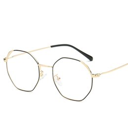 $enCountryForm.capitalKeyWord UK - Women's gold frame cat eye flat mirror retro square cat ear glasses frame ladies men's cat eye otoscope men's metal outdoor glasses