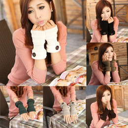 Long arm gLoves online shopping - Women Winter Wrist Arm Hand keep Warmer Knitted Long Fingerless Gloves Mittens Comfortable gloves L50