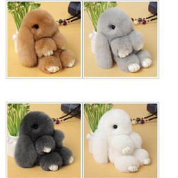 $enCountryForm.capitalKeyWord Australia - Rabbit Pendant Key Chain Stuffed Animal Fur Car Backpack Rabbit Doll Plush Pendant Cute Fashion Toys Lovely Wallet Handbag Pendant DHL Free