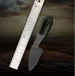 Toptan satış Yüksek sertlik keskin taktik bıçak açık bıçak küçük düz bıçak vahşi olmayan katlanır