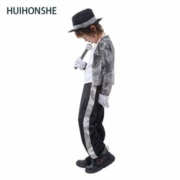 bebfe612ad363 oys Costumes Boys Halloween Cosplay Costume Michael Jackson Billie Jean  Child Fancy Dress Kids Supersta Performance Clothing Dance Wear S..