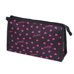 cosmetic bags hearts wholesale Australia - Cosmetic Bag Women Sweet Heart Leopard Printing Multi Color Multi-Function Makeup Bags Maletas De Maquiagem 30pcs lot
