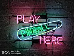 pinball signs UK - New HIGH LIFE Neon PLAY PINBALL HERE Beer Sign Bar Sign Real Glass Neon Light Beer Sign Neon 16inch