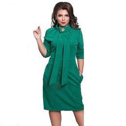 $enCountryForm.capitalKeyWord Australia - Designer Dress Women Plus Size Vestidos Felame Ladies Turtleneck 6XL Knee Length Oversized Sexy Knee Length Dress Party
