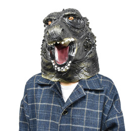 giant masks Australia - Godzilla Giant Monster Latex Full Head Animal Halloween Costume Dragon Costume Mask Party Fancy Dress Cosplay