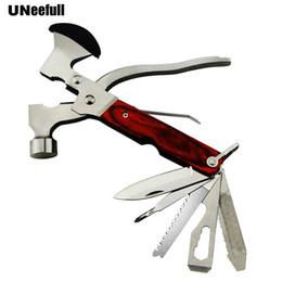 $enCountryForm.capitalKeyWord Australia - UNeefull Portable Multifunctional Hammer With Folding Army Knife Axe Plier Set Wooden Handle EDC Knife Opener Screwdriver Pliers