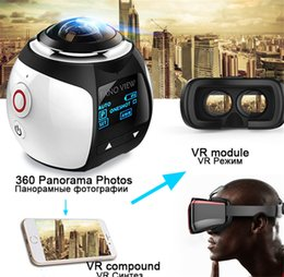 Camera V1 Australia - 2019-Magicsee V1 camera 360 Action Camera Wifi 2448*2448 Ultra HD Mini Panorama 360 Degree Sport Driving VR Camera