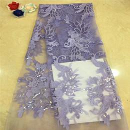 $enCountryForm.capitalKeyWord Australia - VILLIEA Dubai Wholesale High Quality Latest Mesh African Lace Fabrics Lilac French Textile Lace Fabric For Garment Dress