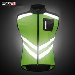 Nylon Coating Australia - WOSAWE Motorcycle Sportswear Men Jerseys Reflective Clothing Wind coat Breathable Bike Jacket Bicycle Cycle Sleeveless Vest