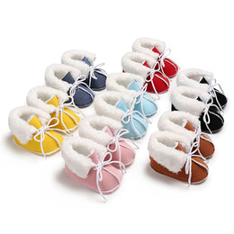 Good Shoes For Boys Australia - good quality Shoes for kids Baby Girl Boy Soft Booties Pure Color Bandage Snow Boots Toddler Warm Shoes chaussure enfant sneakers
