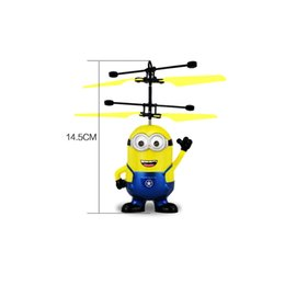 Flashing Helicopter Toy Australia - Minion Fly Flashing helicopter Hand Control RC Toys Minion Helicopter Quadcopter Drone Ar.drone with LED with remote control 15