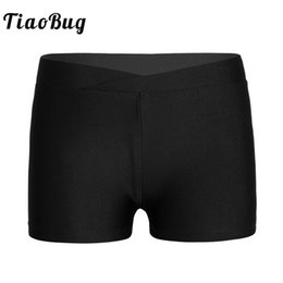 Chinese  TiaoBug Kids Girls Ballet Shorts V-front Waistband Dance Shorts Bottoms for Sports Gym Workout Gymnastics Leotards Dance Costume manufacturers