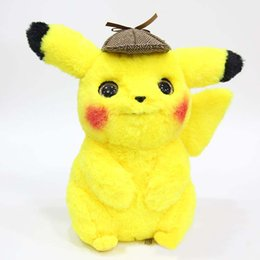 Wholesale 30cm Detective Pikachu Plush Toy High Quality Cute Anime Plush Toys Children s birthday Gift Toy Kids Cartoon Peluche Pikachu Plush Doll