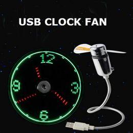 $enCountryForm.capitalKeyWord Australia - Hand Mini USB Fan portable gadgets Flexible Gooseneck LED Clock Cool For laptop PC Notebook real Time Display durable Adjustable