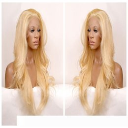 heated comb NZ - Long wavy hair lace front pelucas wig synthetic black hair free part heat resistant black blonde brown three combs