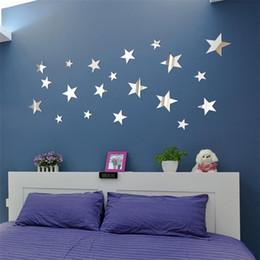 $enCountryForm.capitalKeyWord Australia - 20PCS DIY Star Art Mirror Wall Sticker Acrylic wall stickers for living room bedroom Stickers muraux Adesivos de parede july31