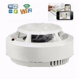 Smoke Detector Alarm Camera UK - 1080P Real smoke alarm mini camera wifi IP camera HD Smoke Detector video recorder wireless network home security surveillance camera