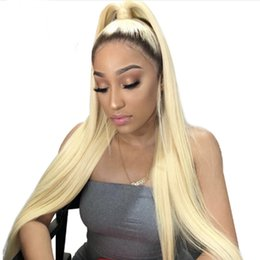 Hairstyles For Dark Hair Australia - Dark Root Blonde Lace Front Ombre Human Hair Wigs For Black Women T1b 613 Straight Brazilian Virgin Hair 150% 180% 250% High Density