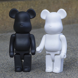 2 colors 400% Bearbrick black White Violent Bear Handmade Model Toys Desktop Decorations Birthday Christmas Gifts HD46 on Sale