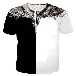 Vente en gros Marcelo Burlon T-shirts de mode estivale Streetwear 2019 Plume Marcelo Burlon Top T-shirts Italie Milan Wings T-Shirt