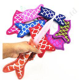 Neoprene Mermaid Popsicle Bag Holder Antifreezing Cream Stick Sleeve Sublimated Freezer Pop Sleeves For Kids Creative Kitchen Tool C7904 on Sale