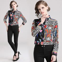 8c6e5b8226aea Ladies Long sLeeve siLk bLouses online shopping - 2019 Spring Runway  Classic Luxury Print Collar Women