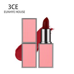 Venta al por mayor de 3CE Eunhye House 10 colores Lápiz labial mate Terciopelo Lápiz labial Maquillaje Hidratante Duradero Fácil de usar Desnudo Batom belleza