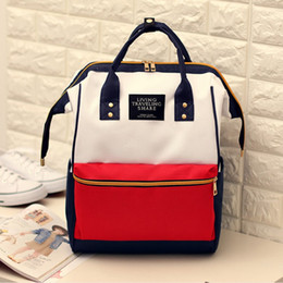 $enCountryForm.capitalKeyWord NZ - Free2019 Woman Mommy Canvas Travel Student Both Shoulders Package Portable Lovers Backpack School Wind