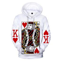 Men Playing Cards Australia - New 3d Hoodies Pullover Poker Playing Cards Printed Fashion Men Women Hoodie Hoody Casual Long Sleeve 3D Hooded Sweatshirts Tops
