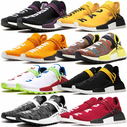 human race tennis shoes NZ - Pharrell Williams x PW Human Race Trail Hu Boys Men Tennis Shoes BBC Human Species Red White Equality Nobel ink Homecoming Womens Trainers