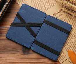 wholesale magic wallet NZ - Fashion Magic MEN'S Wallet Crazy Horse Pattern PU Wallet Card Holder US Dollar