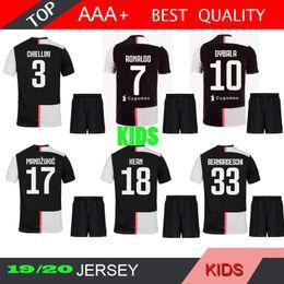 caa77e35934 JUVE Juventus soccer Jersey KIDS Kit child 2019 2020 RONALDO 19 20 DYBALA  PJANIC MANDZUKIC CHIELLINI KEAN football Shirt uniforms
