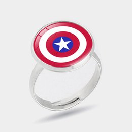 marvel rings Australia - 2019 NEW Fashion Marvel Avengers ring Anime related America captain symbols Stainless steel Steel lovers finger ring jewelry cute fashion